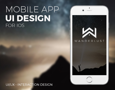 WANDERLUST - Mobile App UI Design | iOS