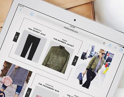 Fall Trends: Digital Landing Page
