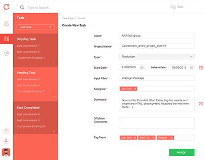 DIGI STELLAR | UX UI Design | Task Page Design