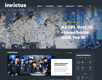 Invictus Gaming website redesign