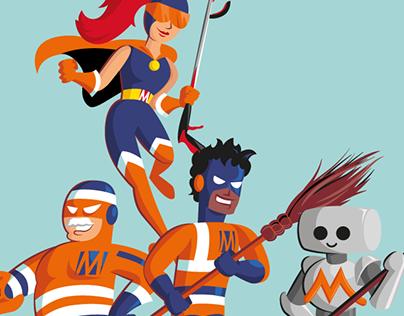 Les Super-Héros de la Propreté