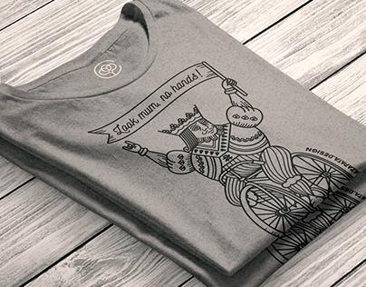 Look mum, no hands! *T-shirt for Cotton Bureau*