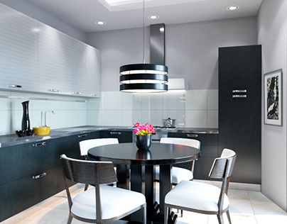 Design project of contemporary flat