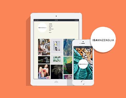 Isa Mazzaglia - Web design