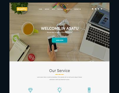 Asatu - Creative PSD Template