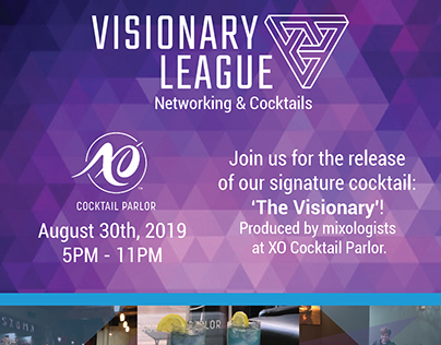 Visionary League: Networking & Cocktails Flyer