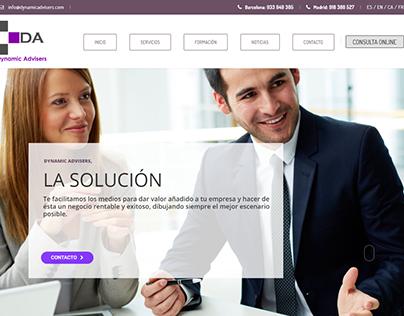 Web de Actual.cat para Dynamic Advisers