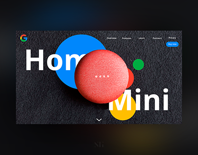 Google Home Mini Website (Concept)
