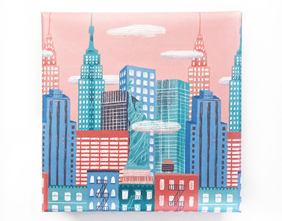 Wrapping paper New York