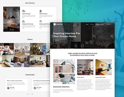 Zircon Interior Landing Page template