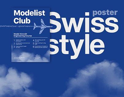 Poster Swiss style