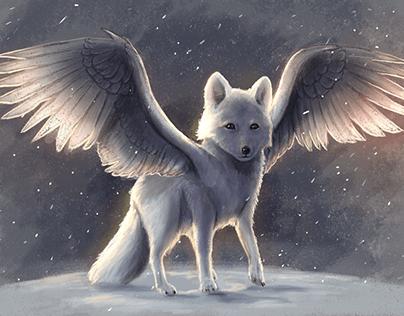 Winter Eagle Fox | Illustration