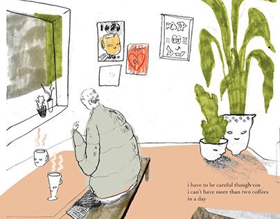 Earwigging in Cafés & Bars Illustration Project