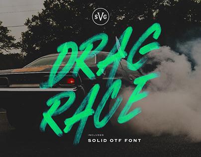 DRAG RACE SVG - FREE MARKER FONT