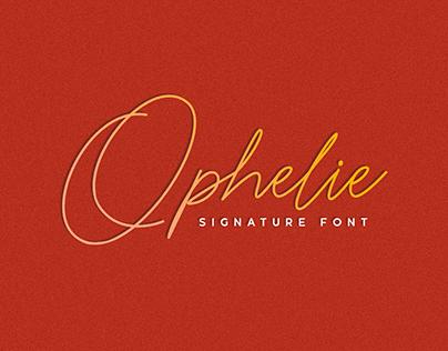 Ophelie - Script Signature