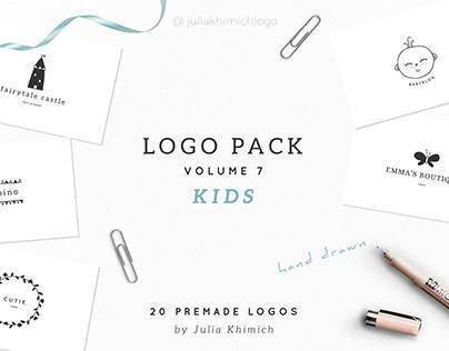 Logo Pack Volume 7. Kids