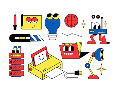Illustrations for Aesthetics Agency