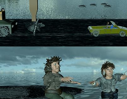 True Love Story Human Verses Shark Never Ends-3d Movie