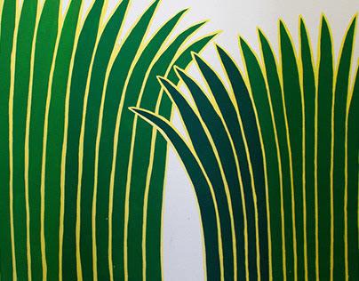 Botanic garden. Wall painting for LGEG.
