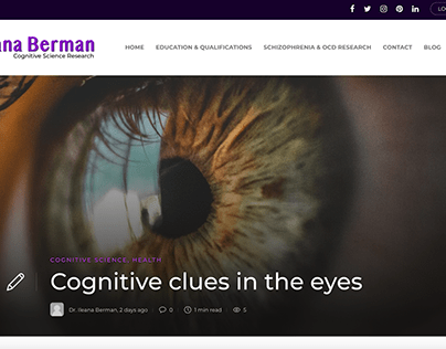 Cognitive Clues in the Eyes - Blog