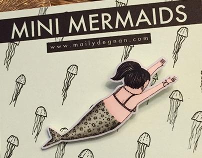 Mini Mermaid Pins