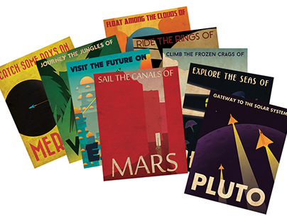 Retro Planetary Travel Posters
