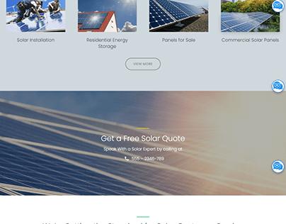 Solar WordPress Website