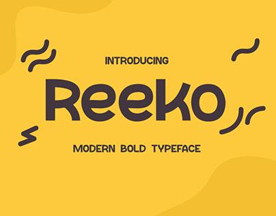 Reeko (Modern Bold Typeface)