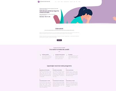 SOS Zenski centar Novi Sad web site