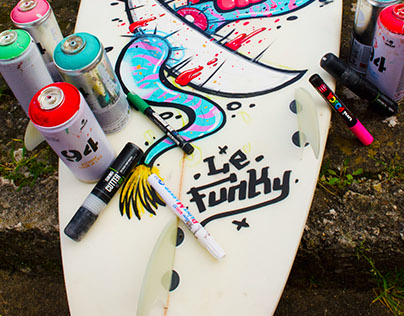 Commissioned Surfboard - Le Funky