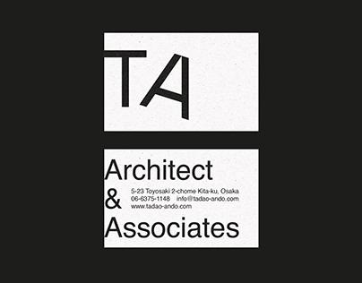 TADAO ANDO Architect & Associates - Visual Identity