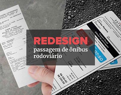 Redesign | Passagem de ônibus rodoviário