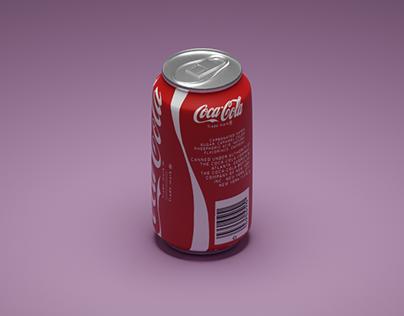 3D Soda Can in Blender.