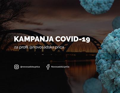 Covid-19 campaign for Novosadska prica