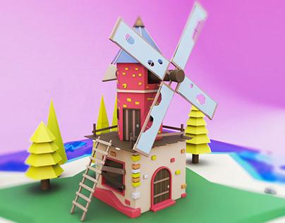 Molino - Low Poly 3D