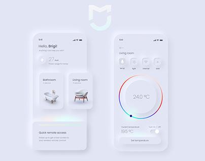 Smart Home UI design