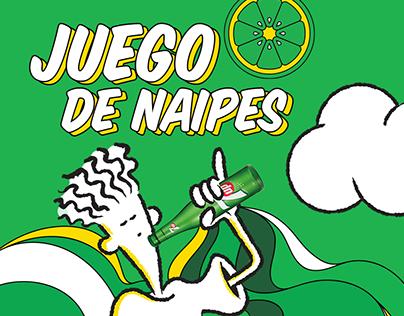 Juego Naipes 7Up