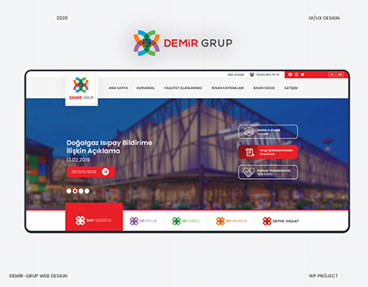 Demir-Grup UI/UX Design