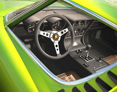 Automotive interior rendering - practice