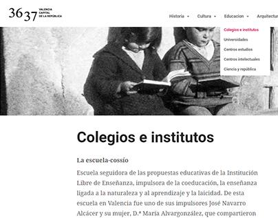 Web Valencia Capital de la República