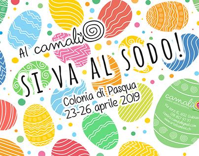 Easter Camp Flyer (Centro Extrascolastico Camalù)