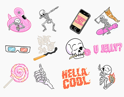 Snapchat - Hella Cool - Artist Sticker Pack 2