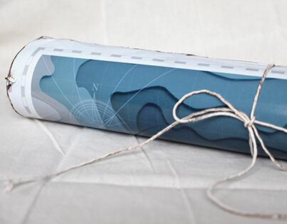 Oceans Apart - Paper Craft Poster