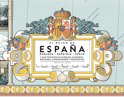 Map of Spain (updated January 2018)