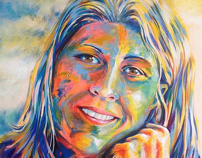 Portrait - Graça - acrylic on canvas
