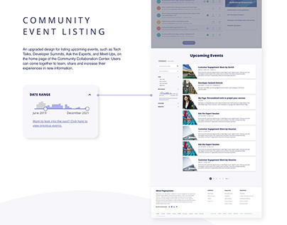 Event Listing and Landing Pages