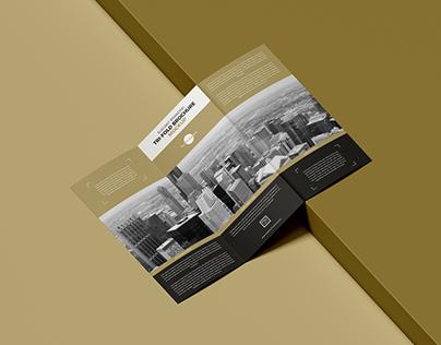 Free Branding Tri-Fold Brochure Mockup