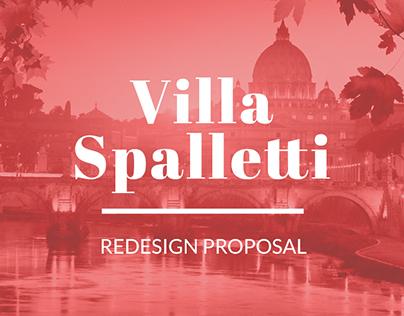 Villa Spalletti website redesign