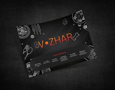 Design set for restaurant V ZHAR