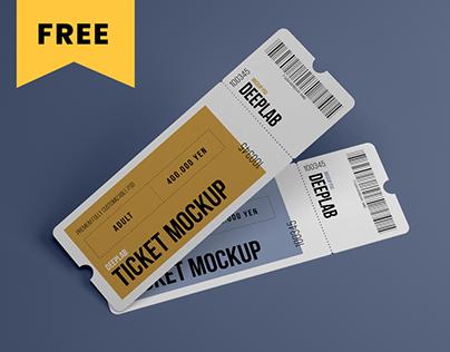 Tickets Mockup Set - FREE